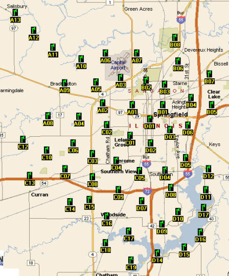 Siren Locations City of Springfield - Home of Aham Lincoln on illinois flood map, il map, illinois aurora map, weather map, illinois flooding map, illinois mine subsidence map, illinois wind map, illinois topo map, illinois sinkhole map, illinois precipitation map, illinois rock map, storm map, illinois water map, illinois union map, illinois doppler radar map, illinois state map, harrisburg illinois map, illinois snow map, illinois snowfall map, illinois earthquake,
